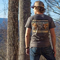 Buck Fight T-Shirt in Pepper by Fripp & Folly