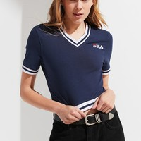 FILA Narla V-Neck Cropped Tee | Urban Outfitters