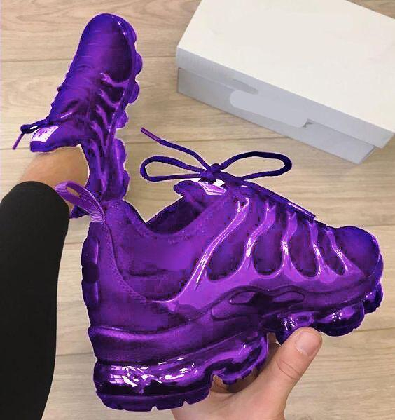 Image of Nike Air Max Vapormax Plus Fashion Women Casual Sport Running Shoes Sneakers Purple