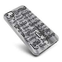 Harry Potter White Magic Spells Cover - For Samsung Galaxy S3 / S4 and IPhone 4 / 4S / 5 / 5S / 5C Case