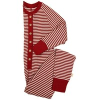 Burt's Bee Big Kids Candy Cane Organic Cotton Holiday Onesuit