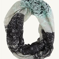 Lace Pattern Infinity Scarf