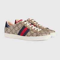 Gucci Men's Leather Low Top Sneakers Shoes