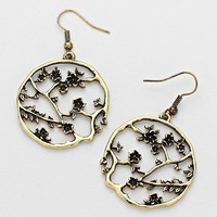 Hollow-Out Floral Earrings