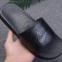 New Nike Benassi Print cheap Men's and women's nike Slippers Beach shoes-1686248855