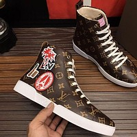 Louis Vuitton LV Popular Women Men High Top Sports Shoes Sneakers I/A