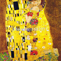 Famous The Kiss Oil Painting by Gustave Klimt