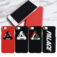 Logo NEW Matte Hard Plastic Palace Logo Case for iPhone 7, Fashion Phone Cover Coque for iPhone 6s 6 Plus 7Plus 5s 5 SE
