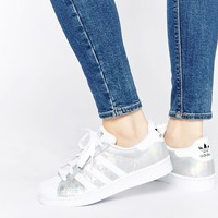 adidas Originals Superstar Holographic White Trainers