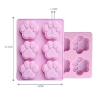 Lowest Price Cat Paw Print Bakeware Silicone Mould Chocolate Cookie Candy Soap Resin Wax Mold Cake Decorating Tools