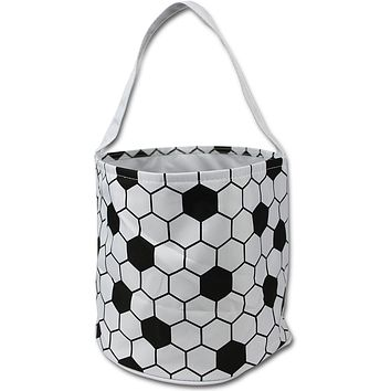 Sporty Soccer Easter Halloween Candy Basket Bucket Snack Bags Children Kids Practice