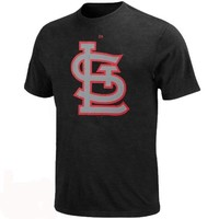 Majestic St. Louis Cardinals Big Sizes Primary Logo Shadow T-Shirt - Charcoal