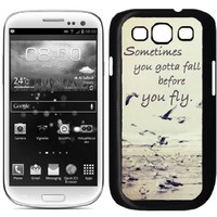Sometimes You Gotta Fall Quote Ocean Samsung Galaxy S3 SIII i9300 Case Fits Samsung Galaxy S3 SIII i9300