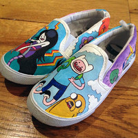 Custom Shoes Adventure Time Vans or Toms style by MyCustomKicks