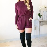 It's A New Day Long Sleeve Romper