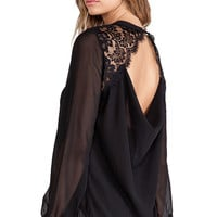 heartLoom Shea Top in Black