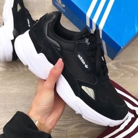 Adidas Falcon W Black recreational running shoes