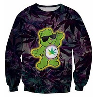 Marijuana Care Bears Purple Sweatshirt