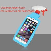 Ownest For iPhone 7 8 Plus Cleaning Agent Phone Case Fashion Style Detergent TPU Silicone Protective Shell For iPhone 6 6 Plus
