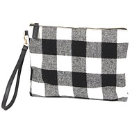Buffalo Check Plaid Wristlet