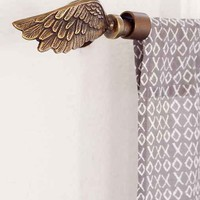 Plum & Bow Wing Finial Set- Bronze One