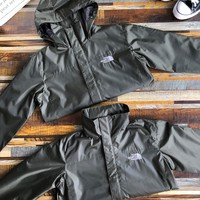 """""""The North Face"""" Men Upright Neck Sports Casual Solid Color Print Stripe Long Sleeve Hooded Sunscreen Windbreaker Coat Sportswear"""