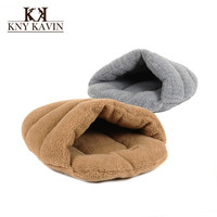 Brand Dog House New Warm Lamb's Wool Slippers Pet Nest Soft Dog House High Quality Cotton Pet Beds For Cats Pets Products  HP831