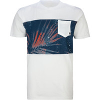 Quiksilver Palm Dust Mens Pocket Tee Off-White  In Sizes