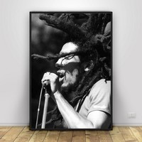 Bob Marley Art Silk Poster Home Decor 12x18 24x36inch