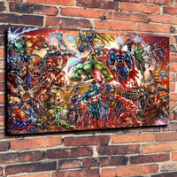 DC Universe and Marvel Comics Print Oil Painting on Canvas Wall Art Picture Home Decoration ( No Framed )