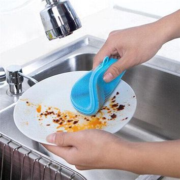 KCASA KC-CS05 Multi-purpose Silicone Dish Washing Cleaning Brush Scrubber Heat-resistant Pad Coaster