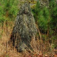 Ghillie Suit Poncho - Synthetic Ultra light - Woodland