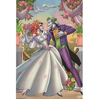 The Joker and Harley Quinn Wedding DC Comics Poster 22x34