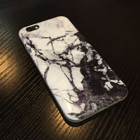 Black White Marble iPhone 6 6s Plus Case Gift-132