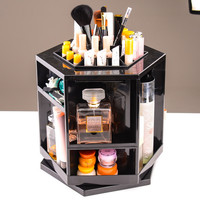 1pc/lot  Plastic  Cosmetic Organizers  Makeup  Storage Box Sundries Display  360 Degree Rotation Carboard  Europe and America