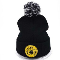 Versace Women Men Embroidery Beanies Winter Knit Hat Cap-3