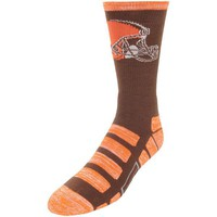 CLEVELAND BROWNS PATCHES QUARTER LENGTH SOCKS SIZE LARGE NEW FOR BARE FEET