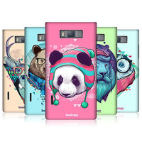 HEAD CASE FAUNA HIPSTERS PROTECTIVE HARD BACK CASE COVER FOR LG OPTIMUS L7 P700
