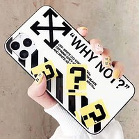 Off White & Off White Fashion New Letter Cross Arrow Print Protective Cover Phone Case