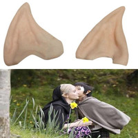 Latex Fairy Pixie Elf Ears Cosplay Accessories LARP Halloween Party Latex Soft Pointed Prosthetic Tips Ear