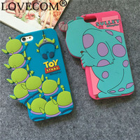 "LOVECOM New Cartoon Cute Shadow Sulley Soft Silicon Phone Back Cover Phone Case For Iphone 6 6S 4.7"" YC847"