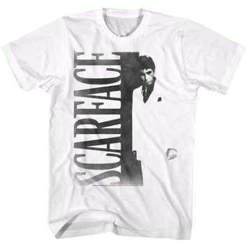 SCARFACEF2-WHITE ADULT S/S TSHIRT