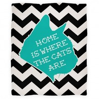 Home is Where the Cats Are Blanket