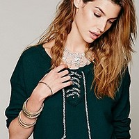 We The Free  Lace Up Hockey Pullover at Free People Clothing Boutique