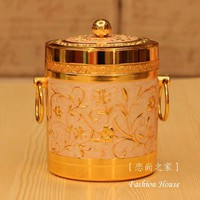 Luxurious fashion alloy ice-pail quality ktv gold of ice bucket gold plated decoration