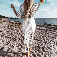 Sexy Lace Up Women Long Dress Cover-up