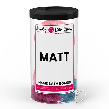 MATT Name Jewelry Bath Bomb Tube