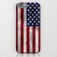 USA Grunge Flag iPhone & iPod Case by Alice Gosling