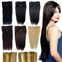 "18"" Clip in Human Hair Extension, 2pcs, 60g, Remy Quality"