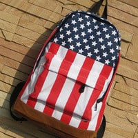 waloli shopping mall — Cool the Stars and the Stripes Backpack Bag